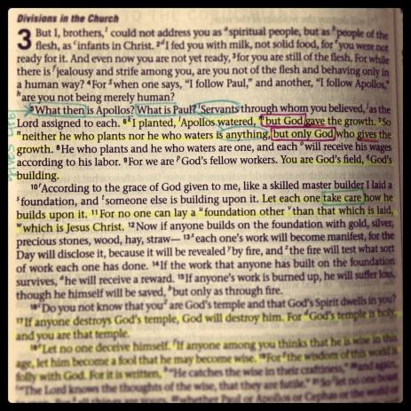 I Corinthians 3:5-11
