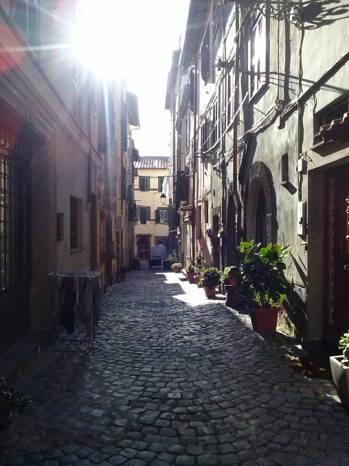 Just a typical cobble stone street in our historic center. We live on a street similar to this one.